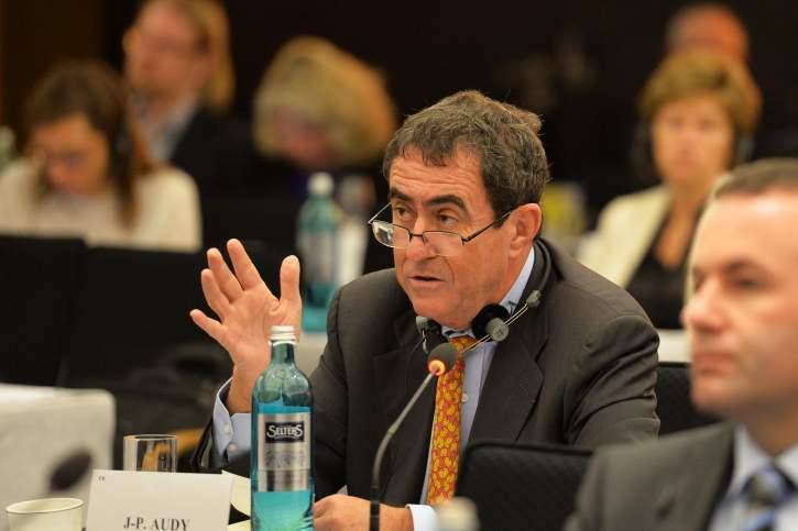 Jean-Pierre Audy MEP addresses the EPP Group Bureau Meeting