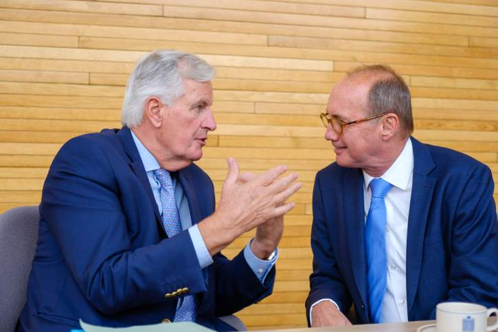 Meeting between Karas and Barnier prior to the vote on the EP Brexit Resolution
