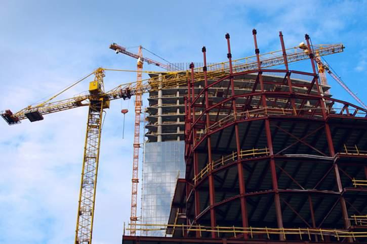 Building under construction.