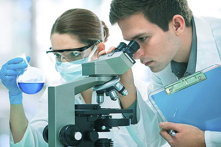 Scientists working at a laboratory