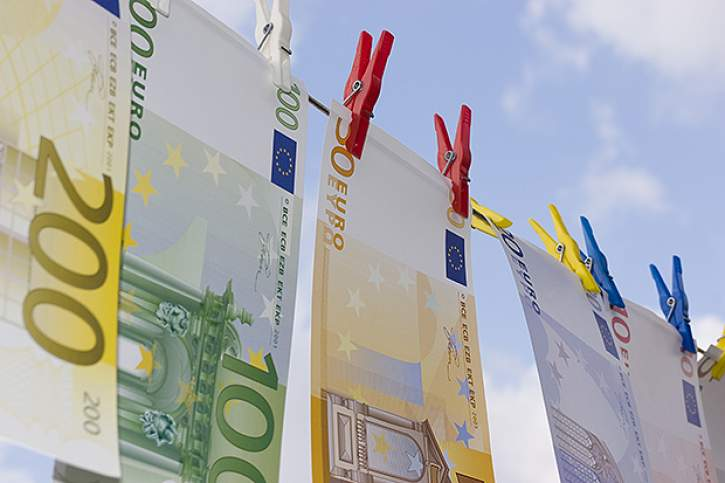 Euro notes drying after being money laundered
