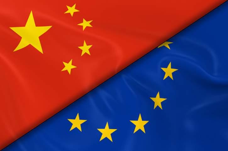 China-EU flags