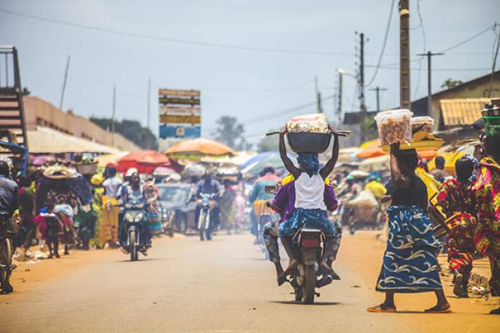 West African market scene