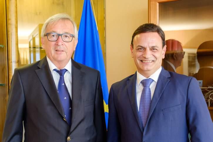 David Casa MEP and Jean-Claude Juncker, President of the European Commission