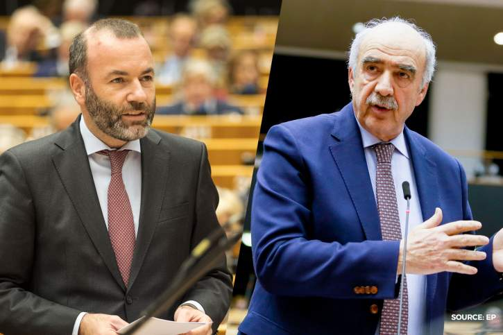 Chairman Manfred Weber and Vice Chair Vangelis Meimerakis