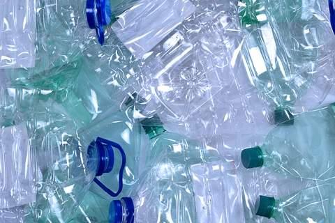Plastic bottles background