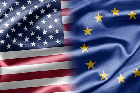 US - EU flag