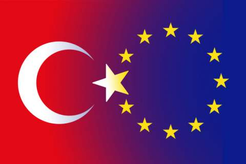 Turkey & Europe flags