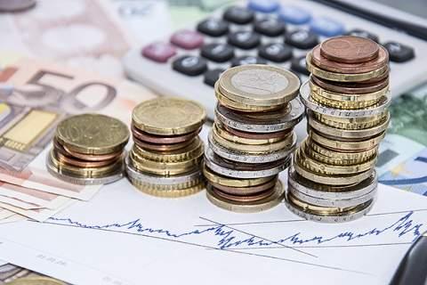 Money Stacks on Bills
