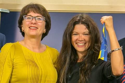 Sandra Kalniete MEP and Ruslana