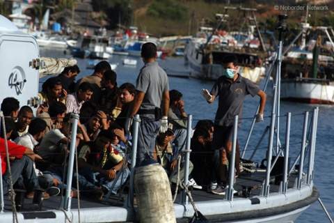 Refugees Continue To Land On Lampedusa Island
