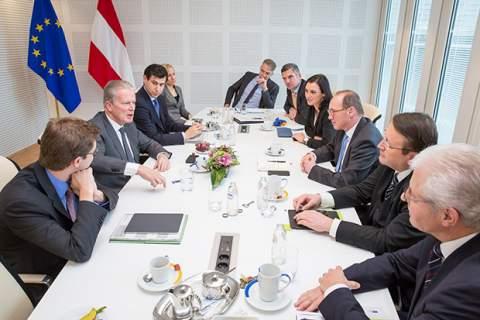 Austrian Vice Chancellor Mitterlehner meets the Austrian EPP MEPS
