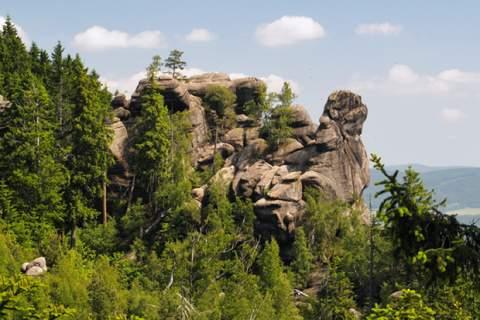 Certova tchyne rock formation in Broumovsk