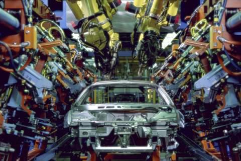 Car in a factory