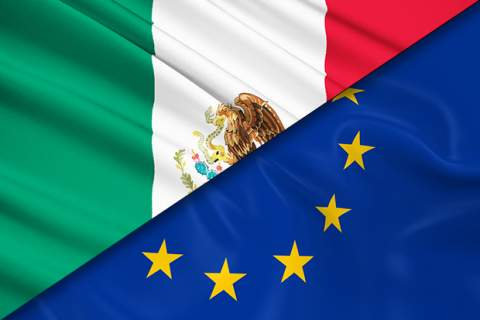 Mexico - EU flags