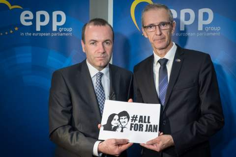 Manfred Weber, Chairman of the EPP Group and Ivan Štefanec MEP