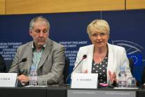 Press conference on the legal rights of session auxiliaries and their claim against the EP for €5m
