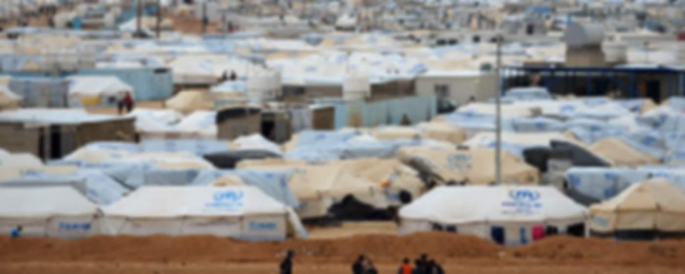 Refugees in the Zaatari camp in Jordan