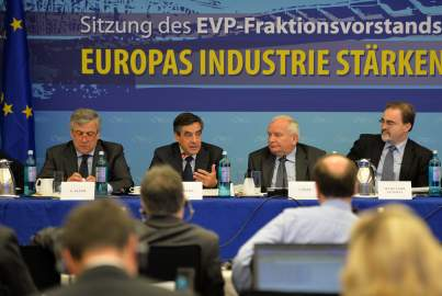 François Fillon addresses the EPP Group Bureau Meeting