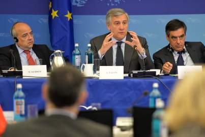 Antonio Tajani addresses the EPP Group Bureau Meeting