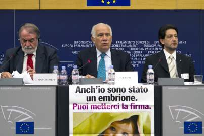 Press conference on the Citizens' Initiative - One of Us Campaign